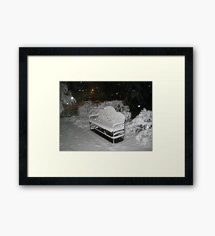 Feb. 19 2012 Snowstorm 58 Framed Print