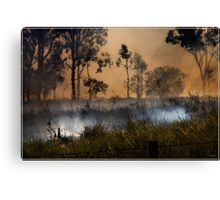 The Burnoff Canvas Print