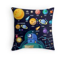 Universe Concept Isometric Throw Pillow