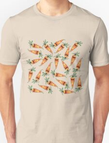 Cute and Funny Watercolor Carrot with Sunglasses T-Shirt