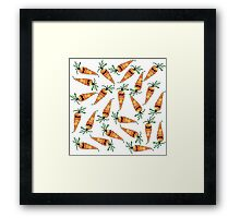 Cute and Funny Watercolor Carrot with Sunglasses Framed Print