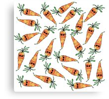 Cute and Funny Watercolor Carrot with Sunglasses Canvas Print