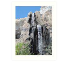 Disneyland Waterfall Art Print