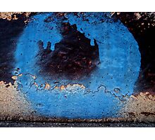 blue stroke  Photographic Print