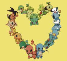 Pokemon Heart  Kids Clothes