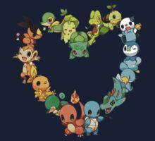 Pokemon Heart  Kids Tee
