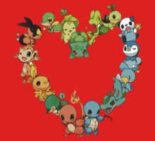 Pokemon Heart  Kids Clothes