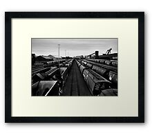 The Empty Track Framed Print