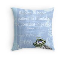 FROG Rejoice Throw Pillow