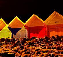 Beach Hut Nights by Nick Thompson