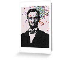 Pixel Splat Greeting Card