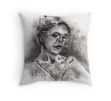 Quietly Reading Throw Pillow