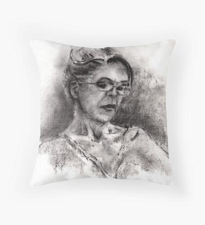 Quietly Reading Throw Pillow
