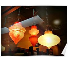 Lovely Lamps In The Store Window Poster