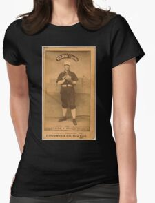 Benjamin K Edwards Collection Emil Geiss Chicago White Stockings baseball card portrait 001 Womens Fitted T-Shirt