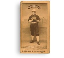 Benjamin K Edwards Collection Emil Geiss Chicago White Stockings baseball card portrait 001 Canvas Print