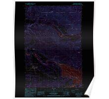 USGS Topo Map Washington State mossyrock wa histmap Inverted Poster