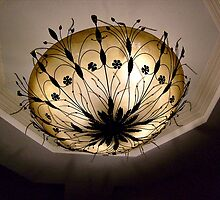The GRAND ceiling lamp at the GRAND Chalet, Rt 23, Wayne NJ by Jane Neill-Hancock