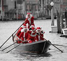 Santa's on a Venetian Gondola !!  (2) by Helen J Cherry