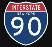 Interstate Sign 90 New York, USA Kids Tee