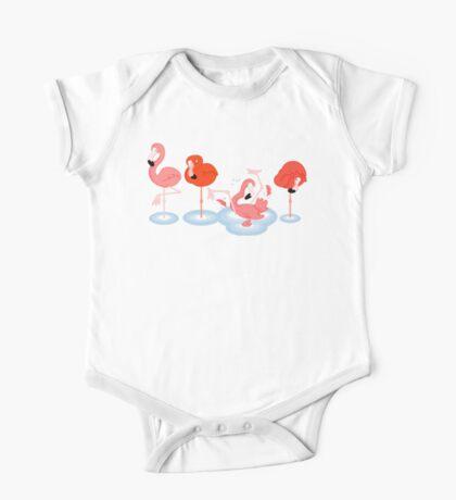Flamingos One Piece - Short Sleeve