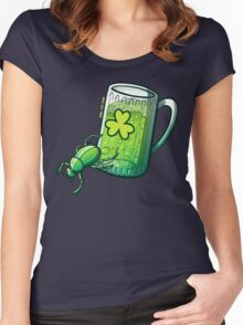 Saint Patrick's Day Beetle Women's Fitted Scoop T-Shirt