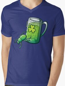Saint Patrick's Day Beetle Mens V-Neck T-Shirt