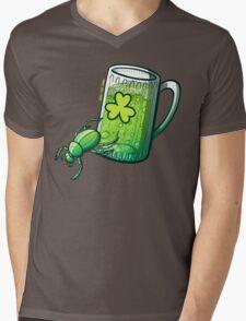Saint Patrick's Day Beetle Mens V-Neck T-Shirt