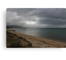Distant shore 002 (colour version) Canvas Print