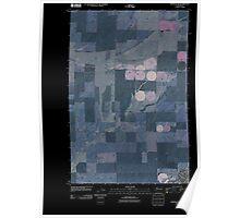 USGS Topo Map Washington State WA Ritzville NW 20110401 TM Inverted Poster
