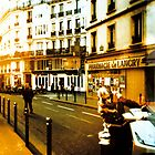 sun over parisian street by busteradams