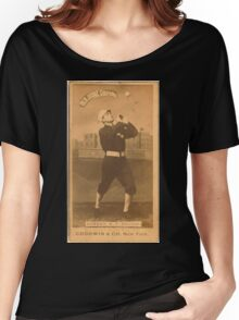 Benjamin K Edwards Collection Billy Sunday Chicago White Stockings baseball card portrait Women's Relaxed Fit T-Shirt