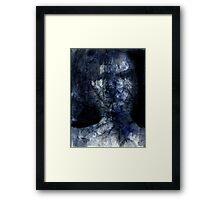 dark face in the shadow Framed Print