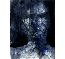 dark face in the shadow Photographic Print