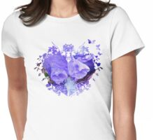 Pretty Purple Womens Fitted T-Shirt