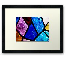 Coloured bubbles Framed Print
