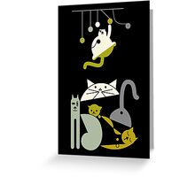 Cats playing  Greeting Card