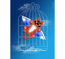 SET YOURSELF FREE! (card) Photographic Print