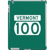 Route 100 Sign, Vermont, USA iPad Case/Skin