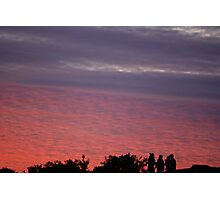 Children at dusk Photographic Print