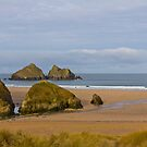 Cornish Seascape Holywell Bay by Brian Roscorla