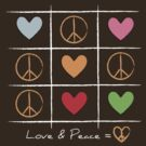 Love & Peace [dark] by favoritedarknes