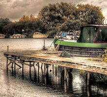 Narrow Boat and Jetty HDR  by Vicki Field