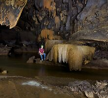 Cave stream passage by John Spies