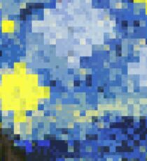 8-bit Starry Night Sticker