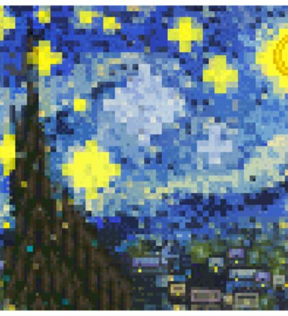 8-bit Starry Night Sticker