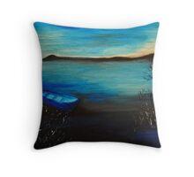 Moonlight Blues Throw Pillow