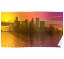 Sunset Across Tawny Hudson Poster