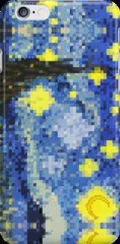 8-bit Starry Night by brotherbrain