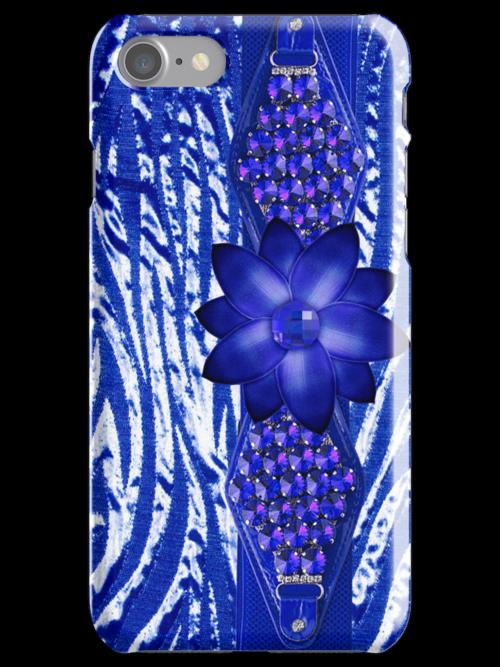 Rhinestones & Flower IPhone or IPod Case by jvinnyg